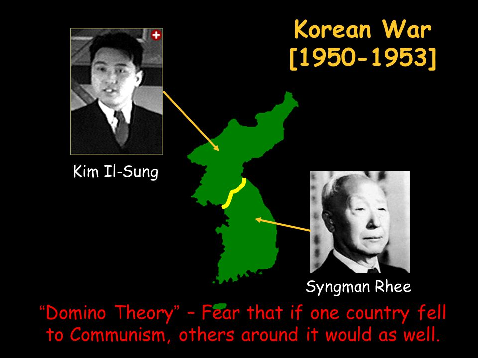 Korean War [1950-1953] Kim Il-Sung. Syngman Rhee.